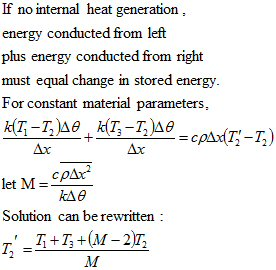 no internal heat equation