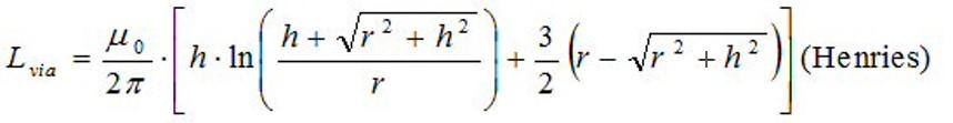 Via inductance equationTC