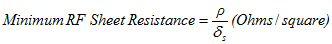 RF Sheet Resistance
